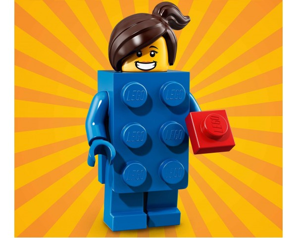 71021 Девочка в синем кубике  Lego Minifigures Юбилейная Серия