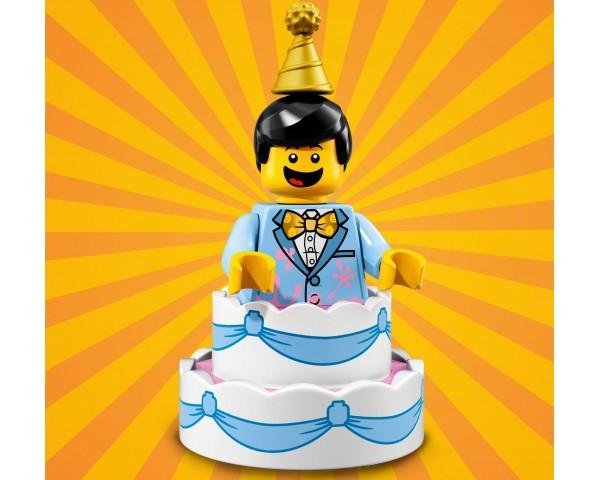 71021 Парень в праздничном торте Lego Minifigures Юбилейная Серия