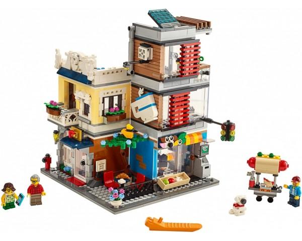 Конструктор LEGO Creator 31097 Зоомагазин и кафе в центре
