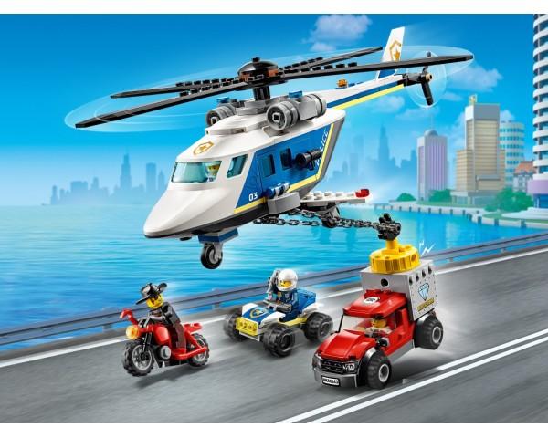 60243 Погоня на полицейском вертолёте Lego City