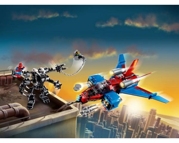Купить 76150 Реактивный самолёт Человека-Паука против Робота Венома Lego Super Heroes