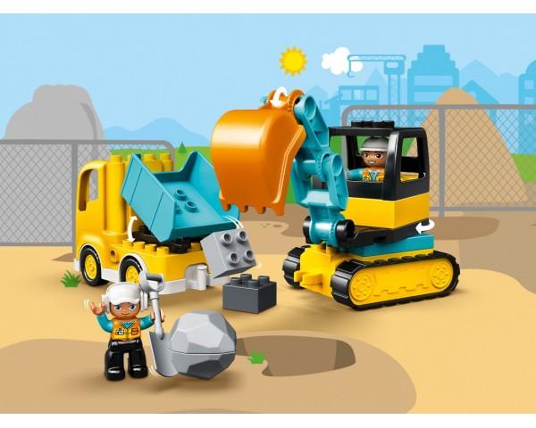 Конструктор LEGO Duplo 10931 Грузовик и гусеничный экскаватор
