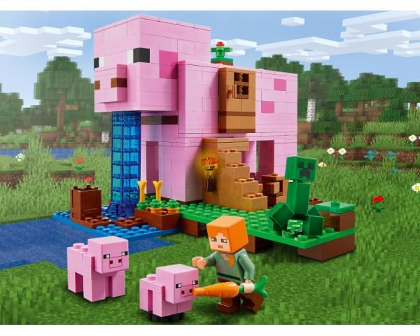 Конструктор LEGO Minecraft 21170 Дом-свинья