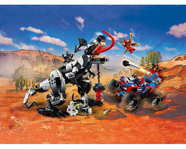 Конструктор LEGO Super Heroes 76151 Человек-Паук: Засада на веномозавра
