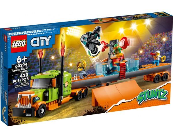 Конструктор LEGO City 60294 Грузовик для шоу каскадёров
