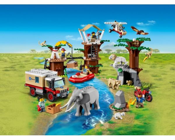 Конструктор LEGO City 60307 Лагерь спасения дикой природы