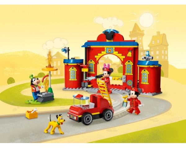 Конструктор LEGO Disney 10776 Пожарная часть и машина Микки и его друзей