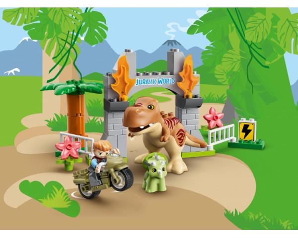 Конструктор LEGO Duplo 10939 Побег динозавров: тираннозавр и трицератопс