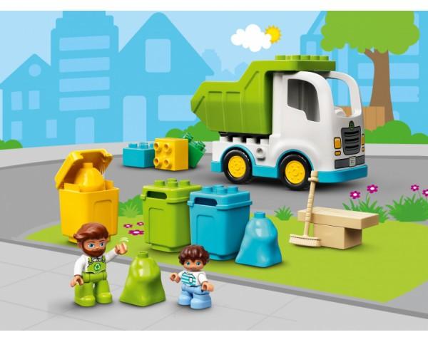 Конструктор LEGO Duplo 10945 Мусоровоз и контейнеры для раздельного сбора мусора