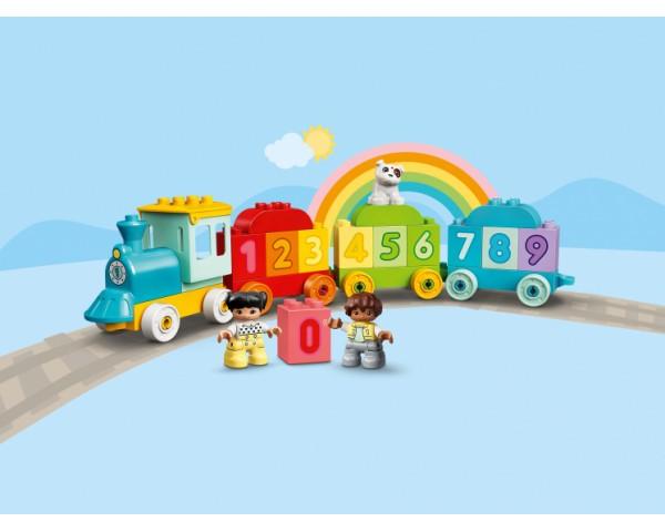 Конструктор LEGO Duplo 10954 Поезд с цифрами — учимся считать
