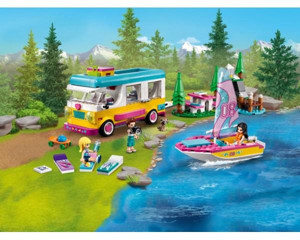 Конструктор LEGO Friends 41681 Лесной дом на колесах и парусная лодка