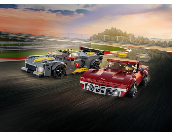 Конструктор LEGO Speed Champions 76903 Chevrolet Corvette C8 R Race Car and 1968 Chevrolet Corvette