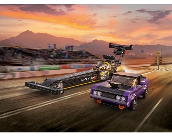 Конструктор LEGO Speed Champions 76904 Mopar Dodge SRT Top Fuel Dragster and 1970 Dodge Challenger TA