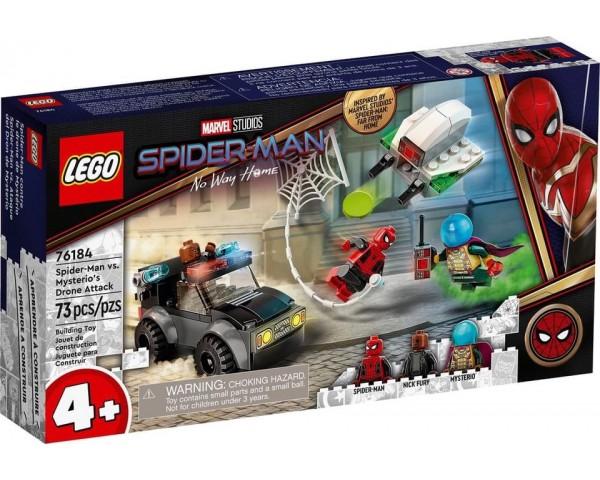 Конструктор LEGO Super Heroes 76184 Человек-паук против атаки дронов Мистерио