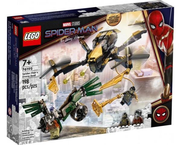 Конструктор LEGO Super Heroes 76195 Дуэль дронов Человека-Паука