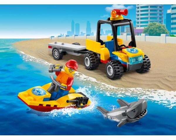 Конструктор LEGO City 60286 Пляжный спасательный вездеход