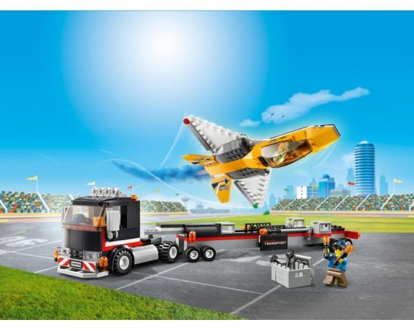 Конструктор LEGO City 60289 Транспортировка самолёта на авиашоу