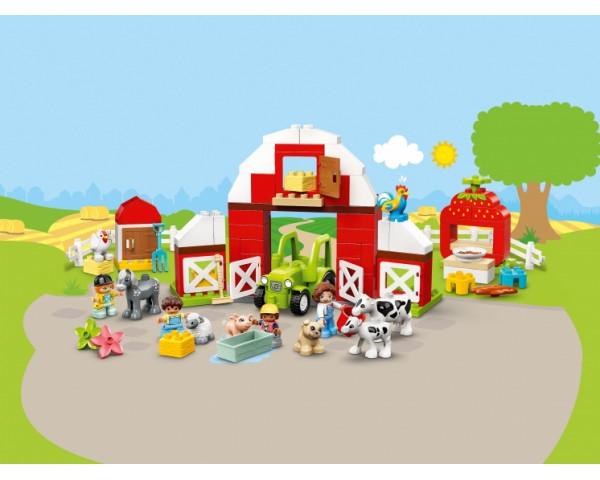 Конструктор LEGO Duplo 10952 Фермерский трактор, домик и животные