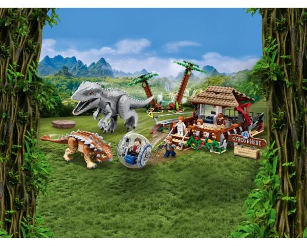Конструктор LEGO Jurassic World 75941 Индоминус-рекс против анкилозавра