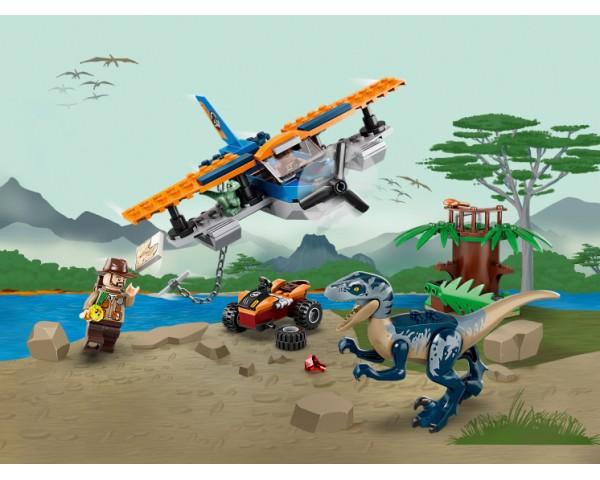 Конструктор LEGO Jurassic World 75942 Велоцираптор: спасение на биплане