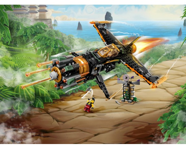 Конструктор LEGO Ninjago 71736 Скорострельный истребитель Коула