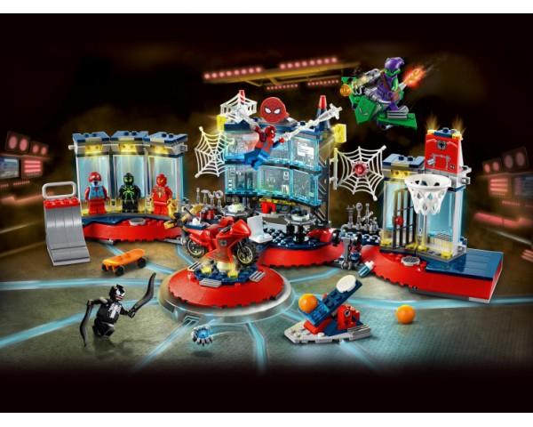 Конструктор LEGO Super Heroes 76175 Нападение на мастерскую паука