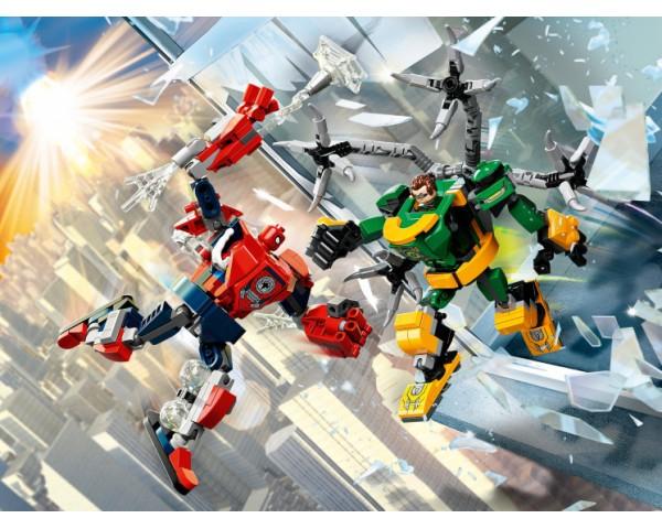 Конструктор LEGO Super Heroes 76198 Битва роботов: Человек-Паук против Доктора Осьминога